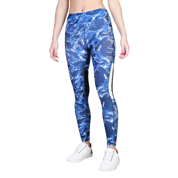 Elle Sport Blue Polyester Tights