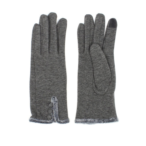 Classic Gloves With Faux Fur Cuff Detail Smart Glove