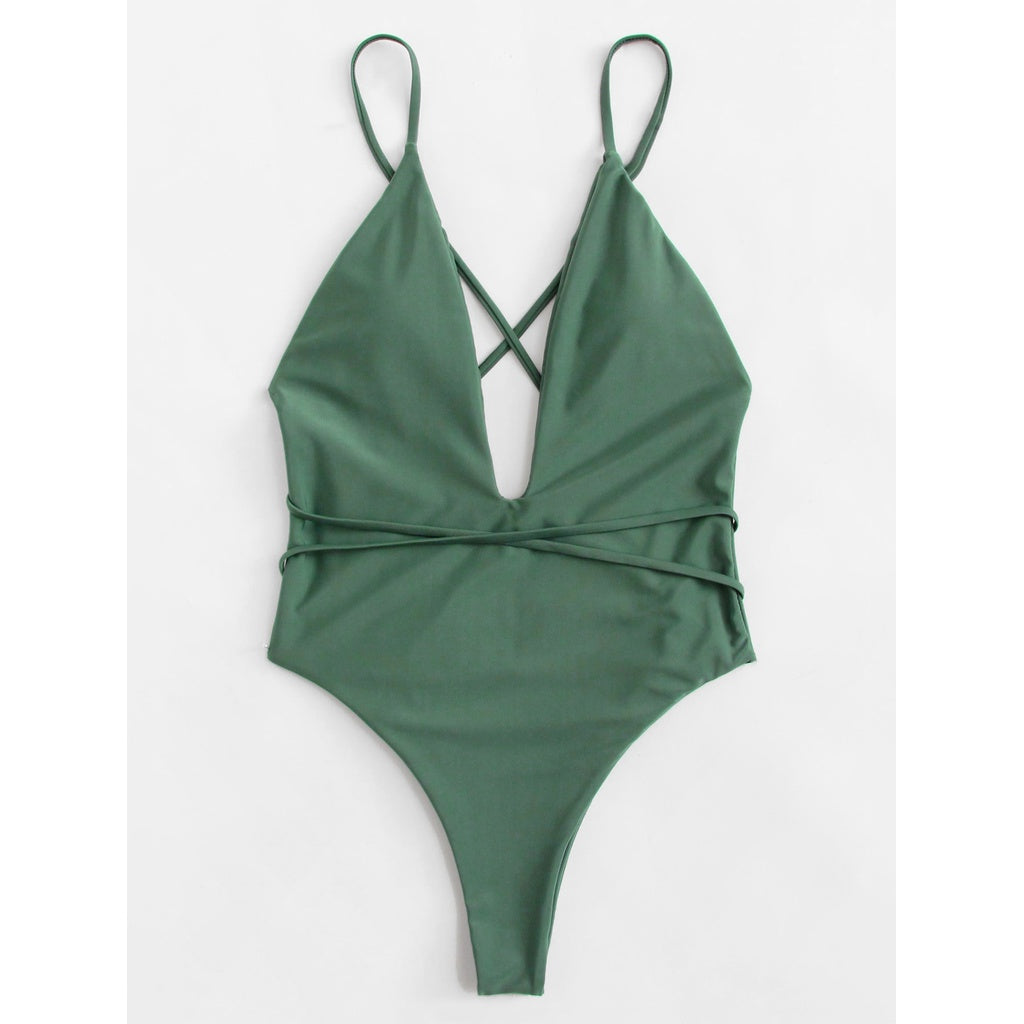 Criss Cross Swimsuit - Fashiontage