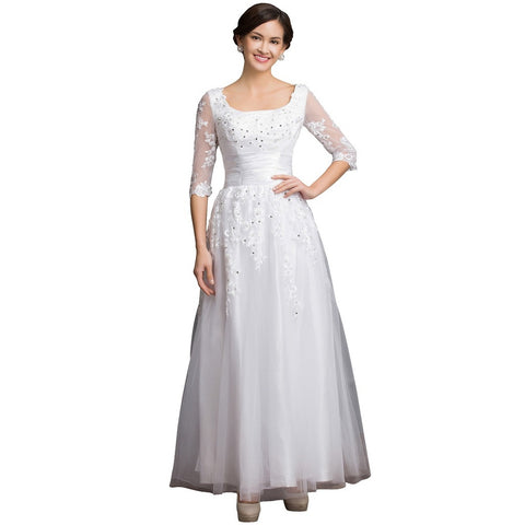 Long Mother Of The Bride Dresses Party Evening Gown