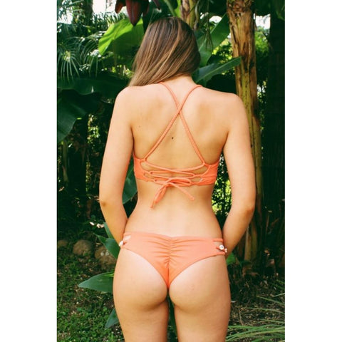 Orange Cross Hem Swimwear