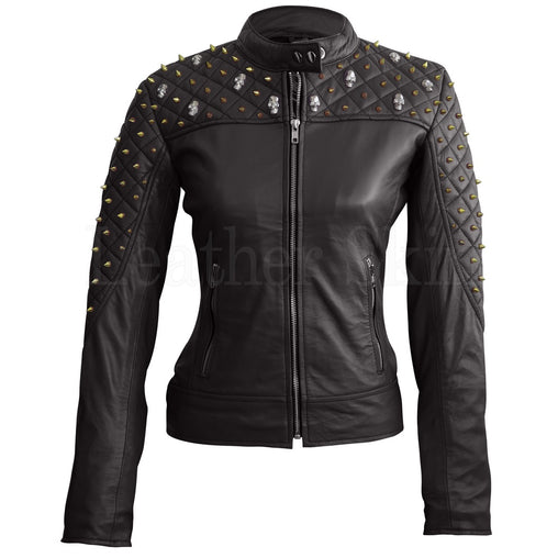 Plus Size Black Leather Jacket