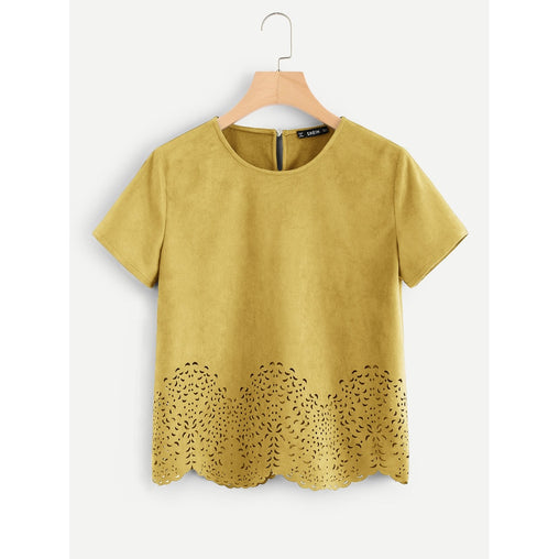Ginger Round Neck Short Sleeve Shirt