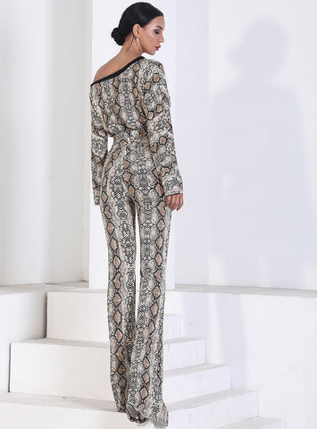 Jumpsuits - Women's Trendy Print Jumpsuit