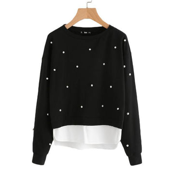Black Hooded Sleeveless Sweatshirt