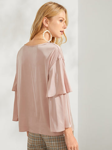 Tunic Tops & Kaftans - Women's Trendy Pink Solid Tunic Tee