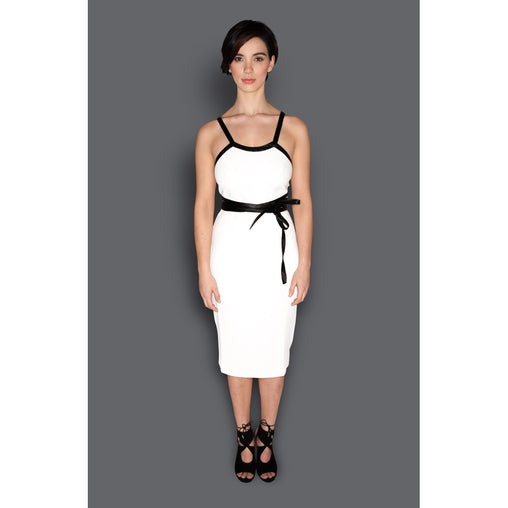 Belt Fitted Sheath Dress