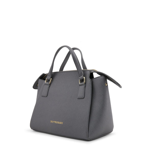 Trussardi Grey Leather Handbag