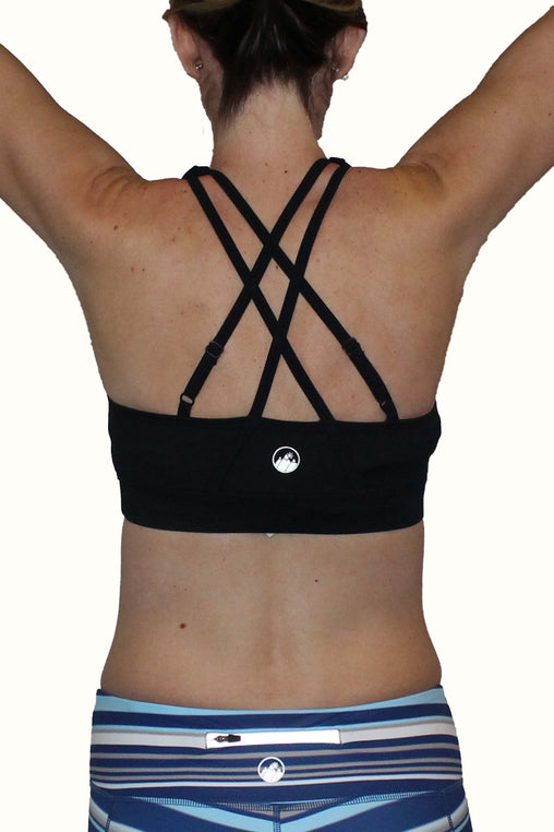 Black Adjustable Sports Bra