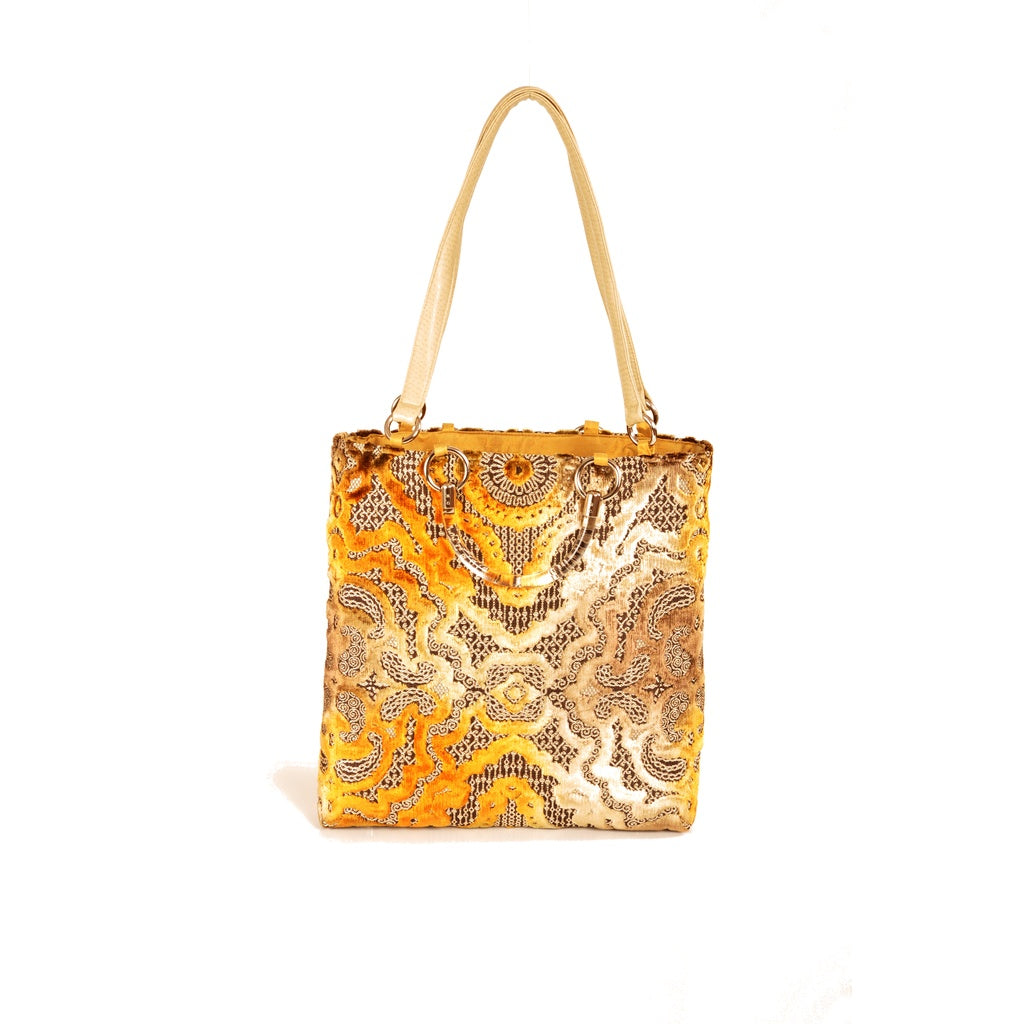 Gold Large Tote - Fashiontage