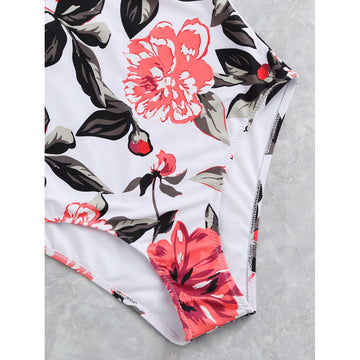 Flower Print Swimsuit - Fashiontage