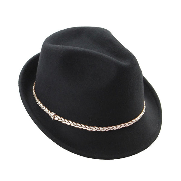 Mechaly Womens Hailey Black Fedora Hat