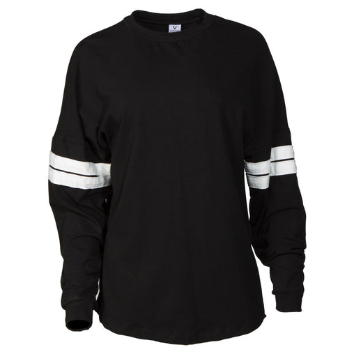 Black & White Crew Neck Long Sleeve Sweater