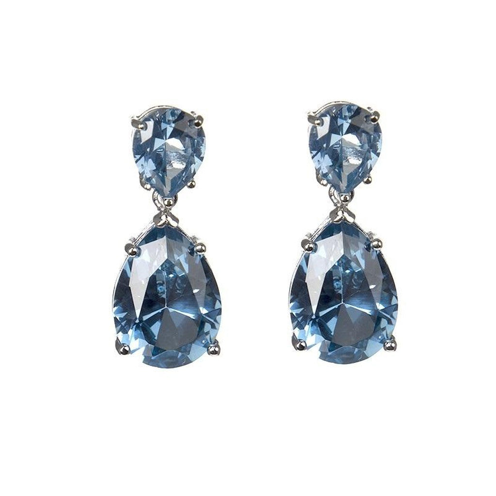 Aqua Drop Earring Ring Jewelry Set