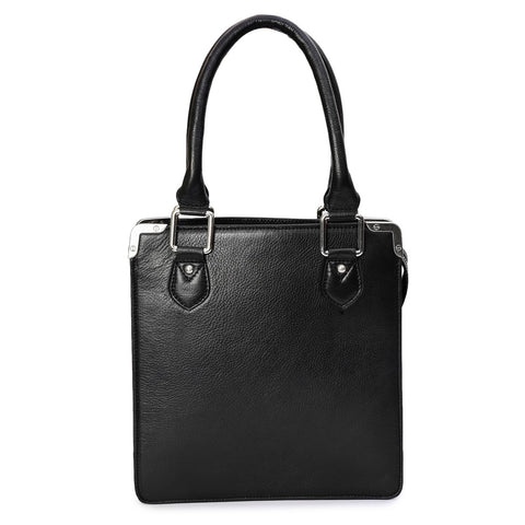 Backpacks - Women's Trendy Black Leather Mini Handbag