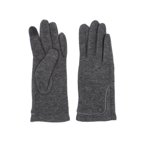 Classic Gloves With Herringbone Pattern