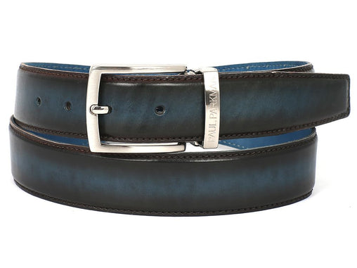 Blue Dual tone Leather Belt