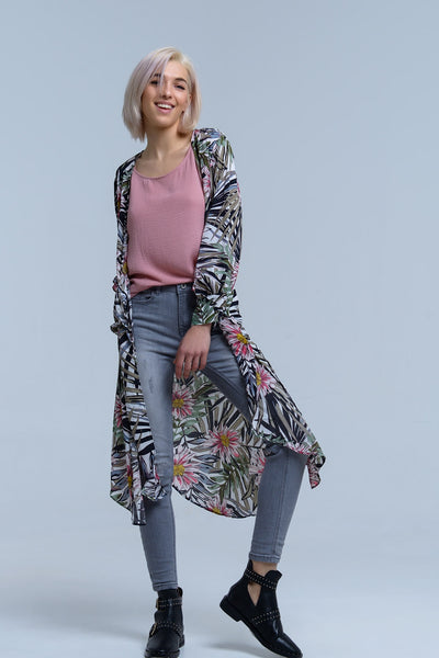 9f992b8aa0 Navy Open Front Floral P..