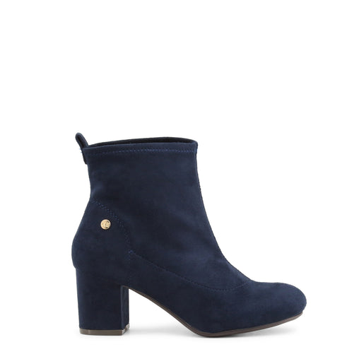 Xti Blue Round Toe Ankle Boots
