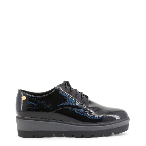 Xti Black Lace Up Leather Shoes