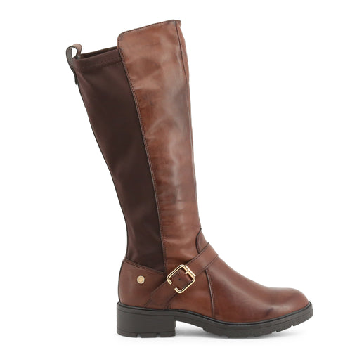 Xti Brown Round Toe Boots