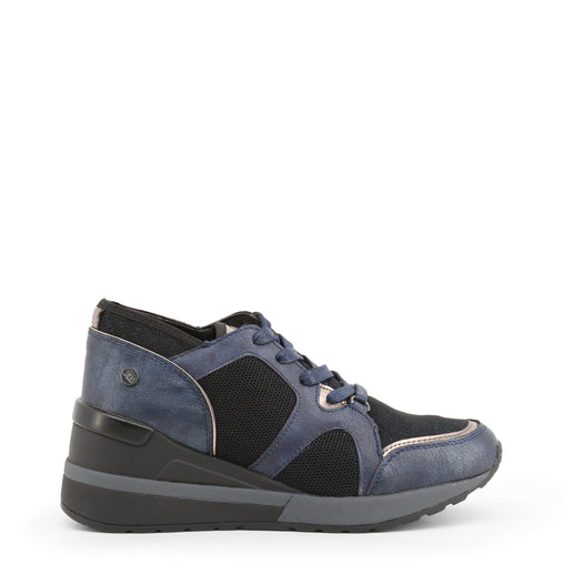 Xti Blue Leather Sneakers