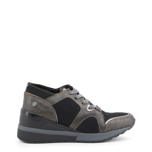 Xti Grey Leather Sneakers