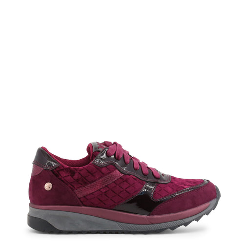 Xti Violet Round Toe Leather Sneakers