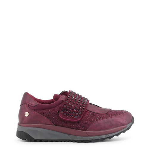 Xti Red Round Toe Leather Sneakers
