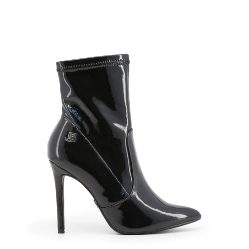 Laura Biagiotti Black Pointed Toe Ankle Boots