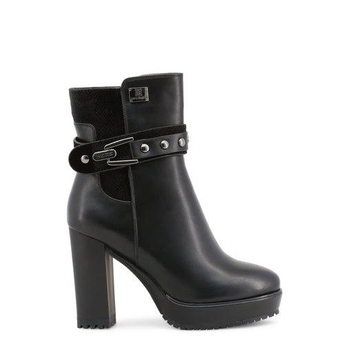 Laura Biagiotti Black Round Toe Ankle Boots