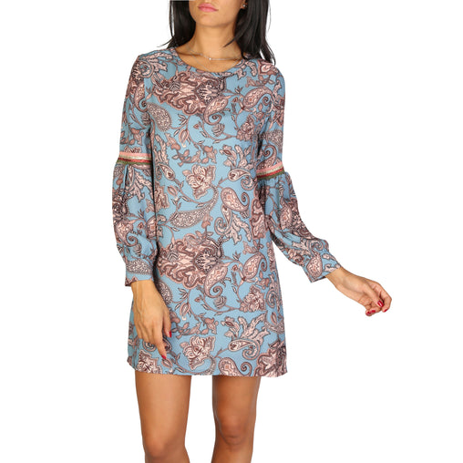 Lokita Blue Sleeves Dress