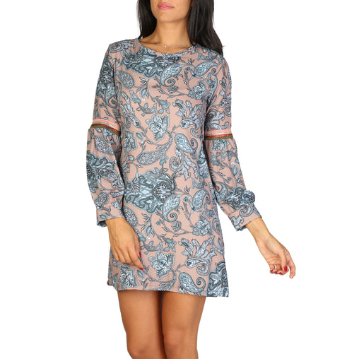 Lokita Brown Sleeves Dress