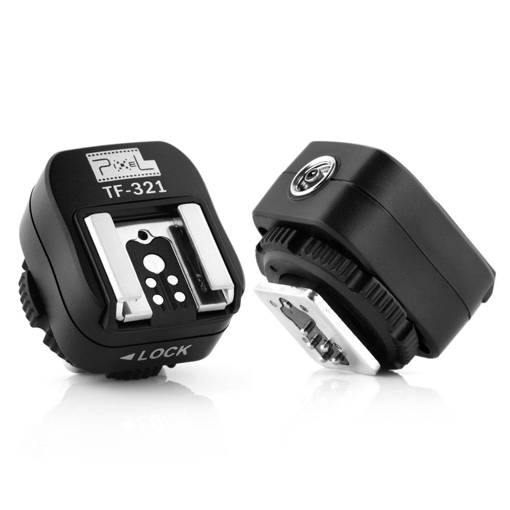Flash Hot Shoe Adapter with Extra PC Sync Port for Canon DSLRs and Flashguns