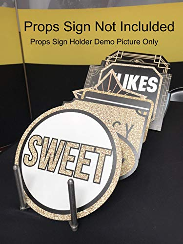 Photo Booth Props Holder for Ever Growing Prop Sign Collections| Stretchable and Collapsible Accordion Style Prop Stand for Photobooth Industry - Stainless Steel