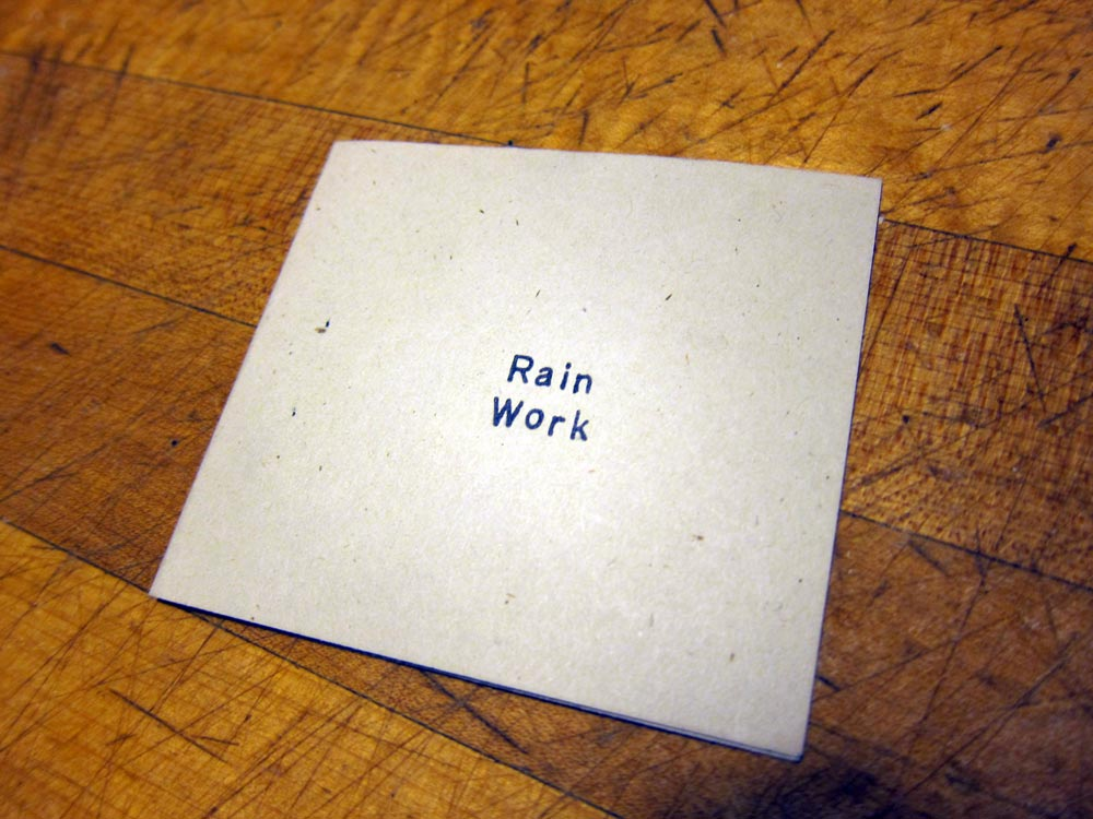 Ted Purves, Rain Work, 1996.