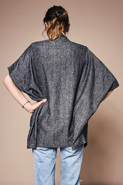 Cloud Jacket - Grey Raw Silk