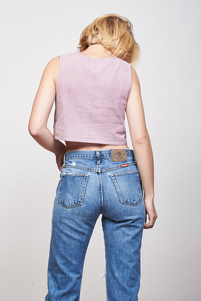 Crop Tank - Dusty Rose