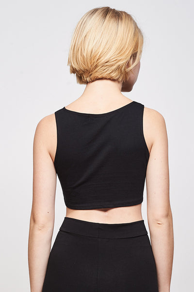 MM Crop - Black
