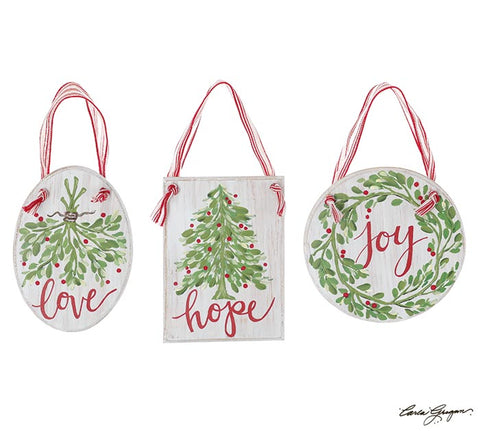 Joy Hope Love Ornament