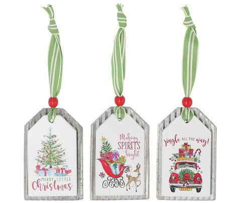 Christmas Scene Tag Ornament