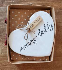 Mommy and Daddy 2019 Ceramic Ornament