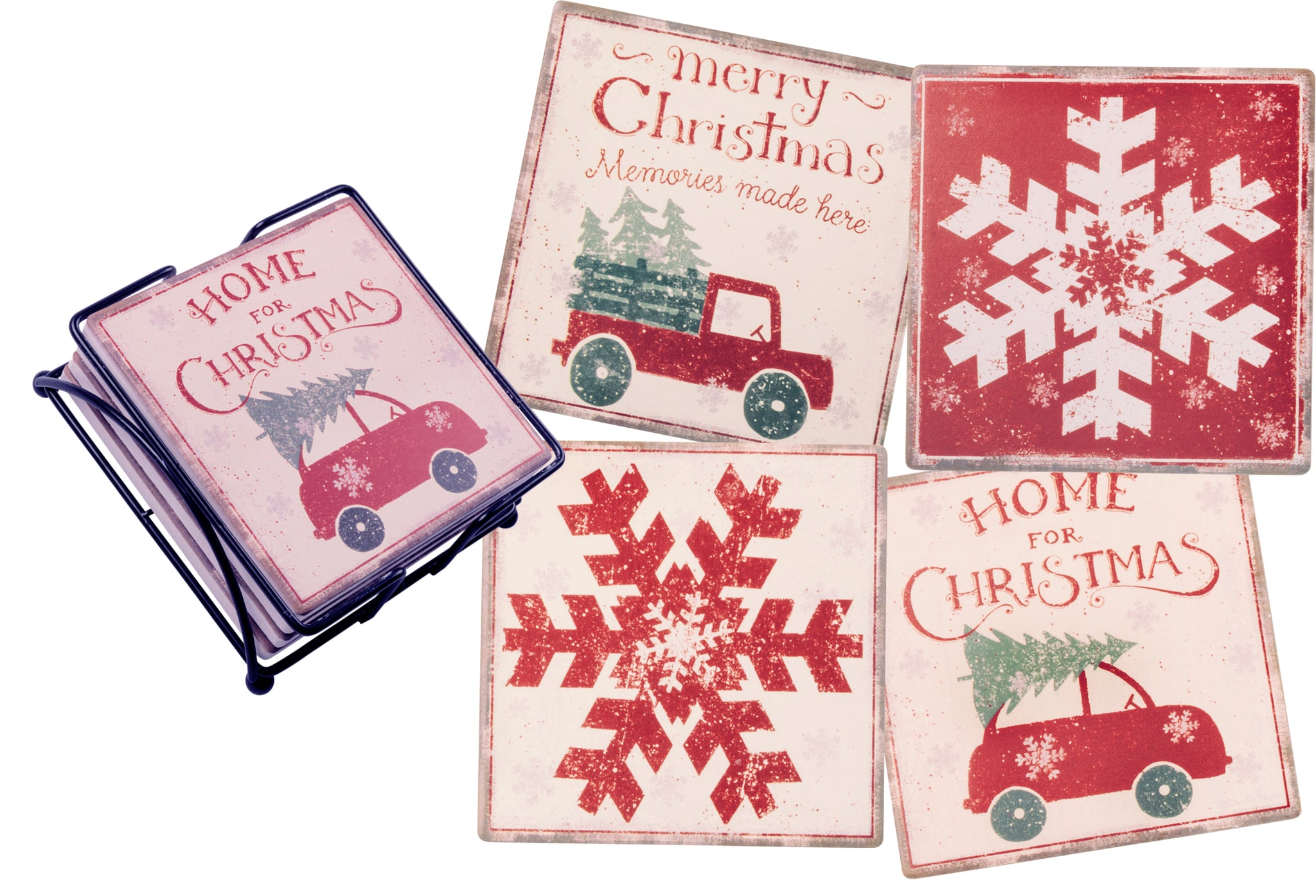 Home For Christmas Coaster Set