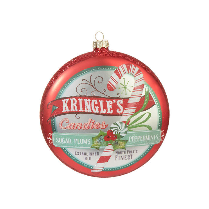 KRINGLE'S CANDIES DISC ORNAMENT