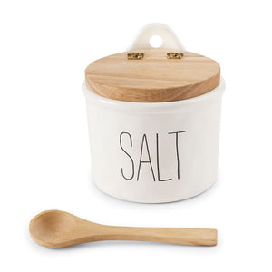 Bistro Salt Cellar & Spoon Set