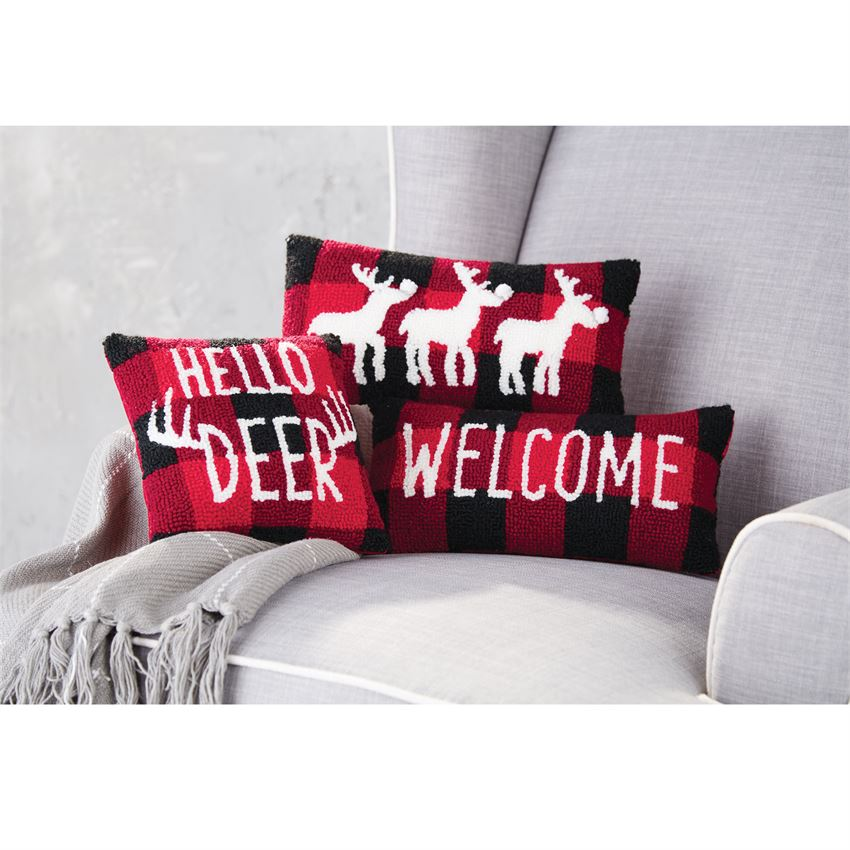 BUFFALO CHECK HOOK PILLOWS (3 styles)