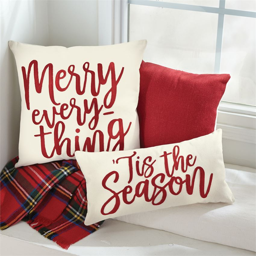 CHRISTMAS CANVAS & FELT PILLOWS (2 styles)