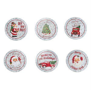 Tin Christmas Coasters