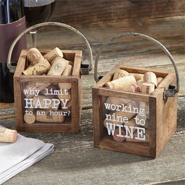 MINI WINE CORK DISPLAY BOXES