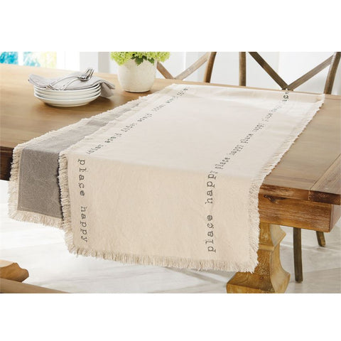 "Reversible ""Happy"" Table Runner"